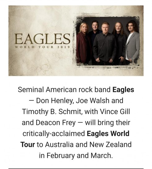Eagles World Tour