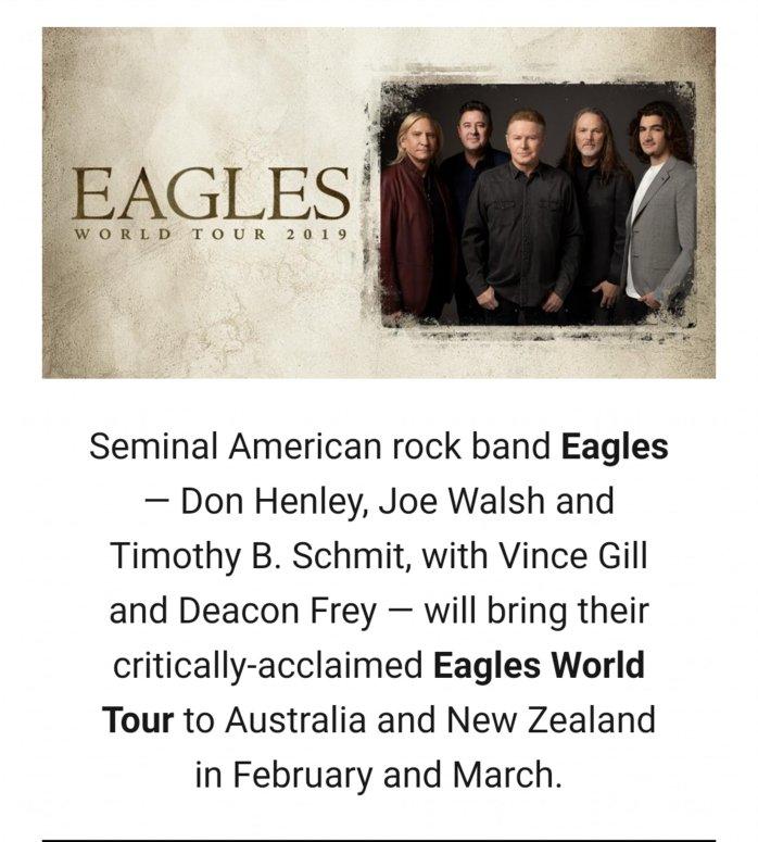 Eagles World Tour